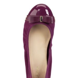 Cole Haan Air Monica Suede/Patent Ballerina Flat